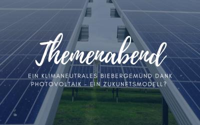 Themenabend: Photovoltaik – Biebergemünds Zukunft?